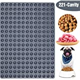 V-fox Mini Round Silicone Mold/Chocolate Drops Mold/Dog Treats Pan/Semi Sphere Gummy Candy Molds for Ganache Jelly Caramels Cookies Pet Treats Baking Mold Small Dot Cake Decoration (0.6in)