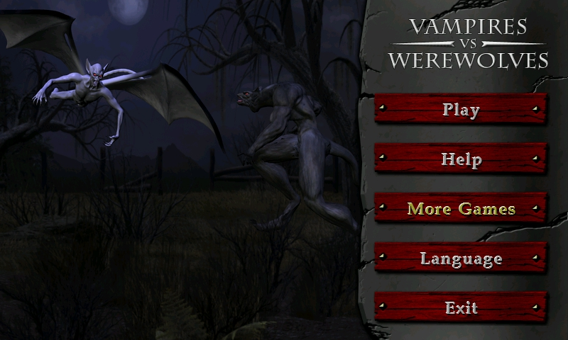 Vampire Vs Werewolf Games