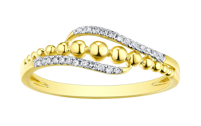 Prism Jewel 0.08 Carat G-H//I1 Natural Round Diamond Fancy Ring