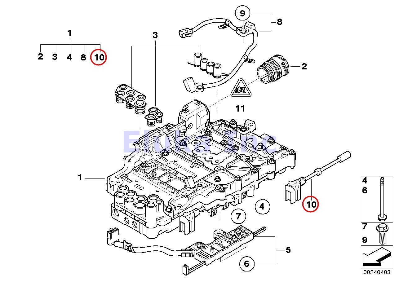 Bmw Genuine Auto Transmission Gear Selector Valve 128i Top Parts 06 07 Tub 08 Wiring Information Par X3 30i 30si 323i 328i 328xi