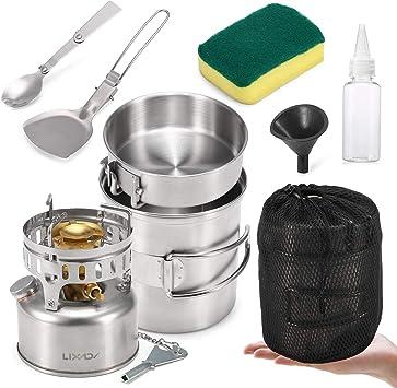 Lixada 9PCS Kit de Desorden de Utensilios de Cocina de Acero ...