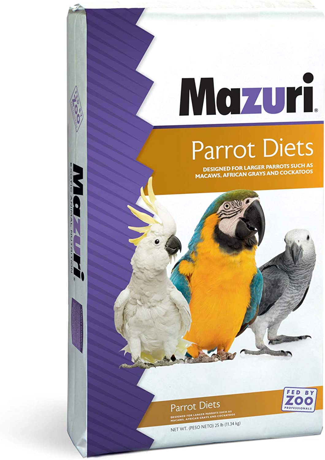 Mazuri   Nutritionally Complete Parrot Food   25 Pound (25 lb.) Bag