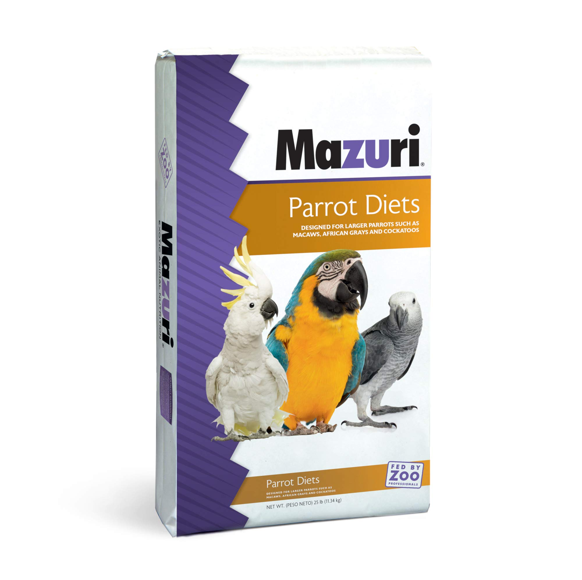 Mazuri | Nutritionally Complete Parrot Food | 25 Pound (25 lb.) Bag