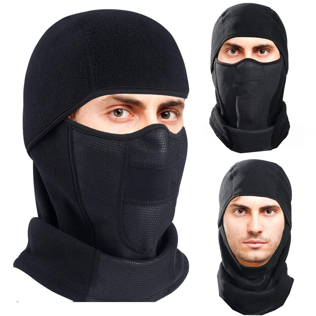 Winter Warm Full Face Mask Ski Motorcycle Thermal Balaclava Hat Breathable Vents