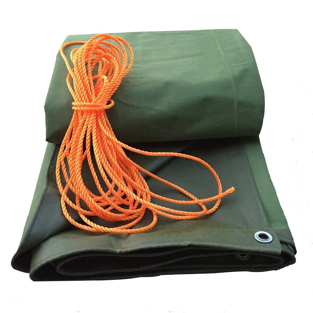 PENGFEI キャンバス オーニング 防水 園芸 植物 雨布 日焼け止め ピクニックマット 老化防止 防塵の 防風、 厚さ0.71mm、 -600g / m2、 9サイズのオプション ( 色 : 緑 , サイズ さいず : 4x4m ) B07BTZGDHB 4x4m|緑 緑 4x4m