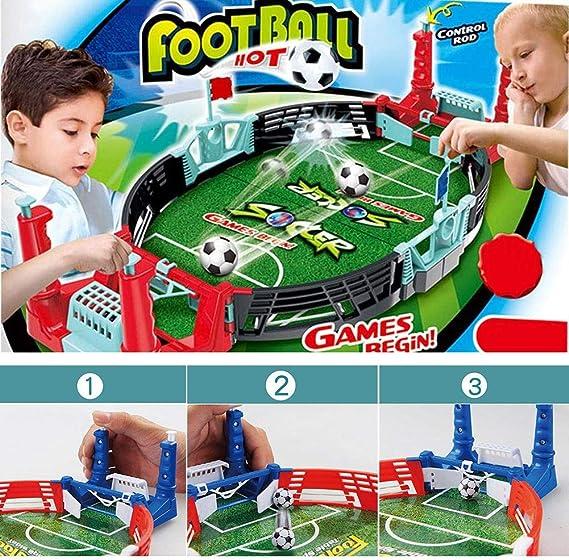 Youbeny Mesa de futbolín de Mesa: Mini Mesa portátil de fútbol/Juego de fútbol Arcade Fun Game para Adultos y niños: Amazon.es: Hogar