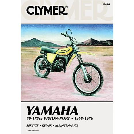 amazon com clymer repair manual for yamaha 80 175 enduro mx 68 76 rh amazon com Yamaha XTZ 125 1973 Yamaha DT 125