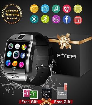 Montre Connectée Smartwatch,Bluetooth Smart Watch Phone Montre Intelligente Sport Montre Connectée Android IOS avec