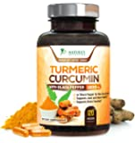 Turmeric Curcumin Max Potency 95% Curcuminoids 1800mg with Black Pepper Extract for Best Absorption, Anti-Inflammatory for Joint Relief, Turmeric Powder Supplement by Nature's Nutrition - 120 Capsules