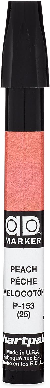 The Original Chartpak AD Marker, Tri-Nib, Peach, 1 Each (P153)