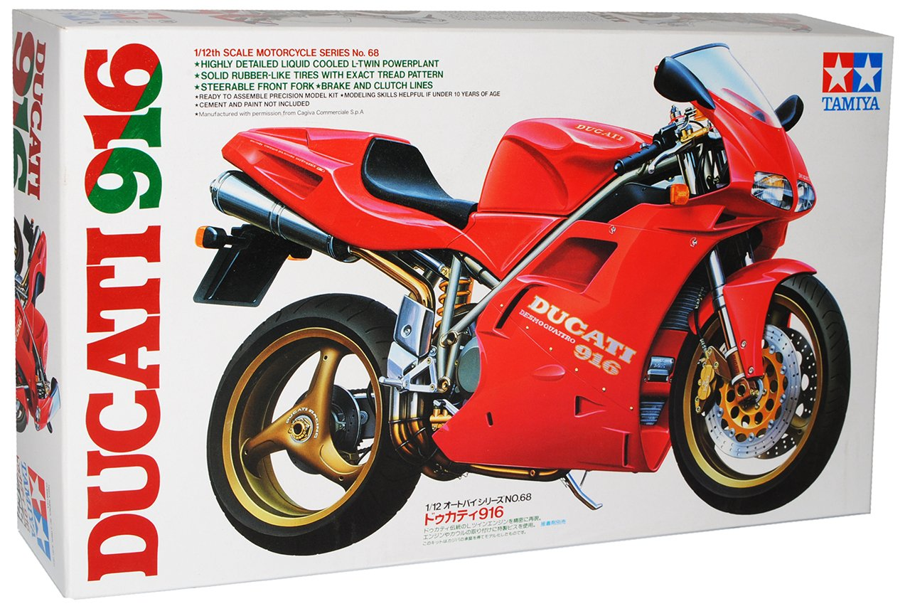 Tamiya Ducati 916 1 12 Assembly Kit Motorcycle Series No68 Scale Kits 1199 Panigale S Toys Games