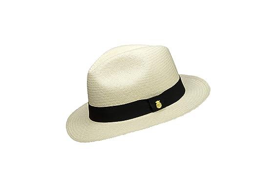 537782eba386c New MONTECRISTI FINO Genuine Panama Hat Rollable Foldable Handmade in  Ecuador  Amazon.co.uk  Clothing