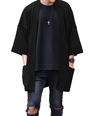 LOST IN BKK Men's Long Oversized Kimono Cardigan Noragi Japan ...