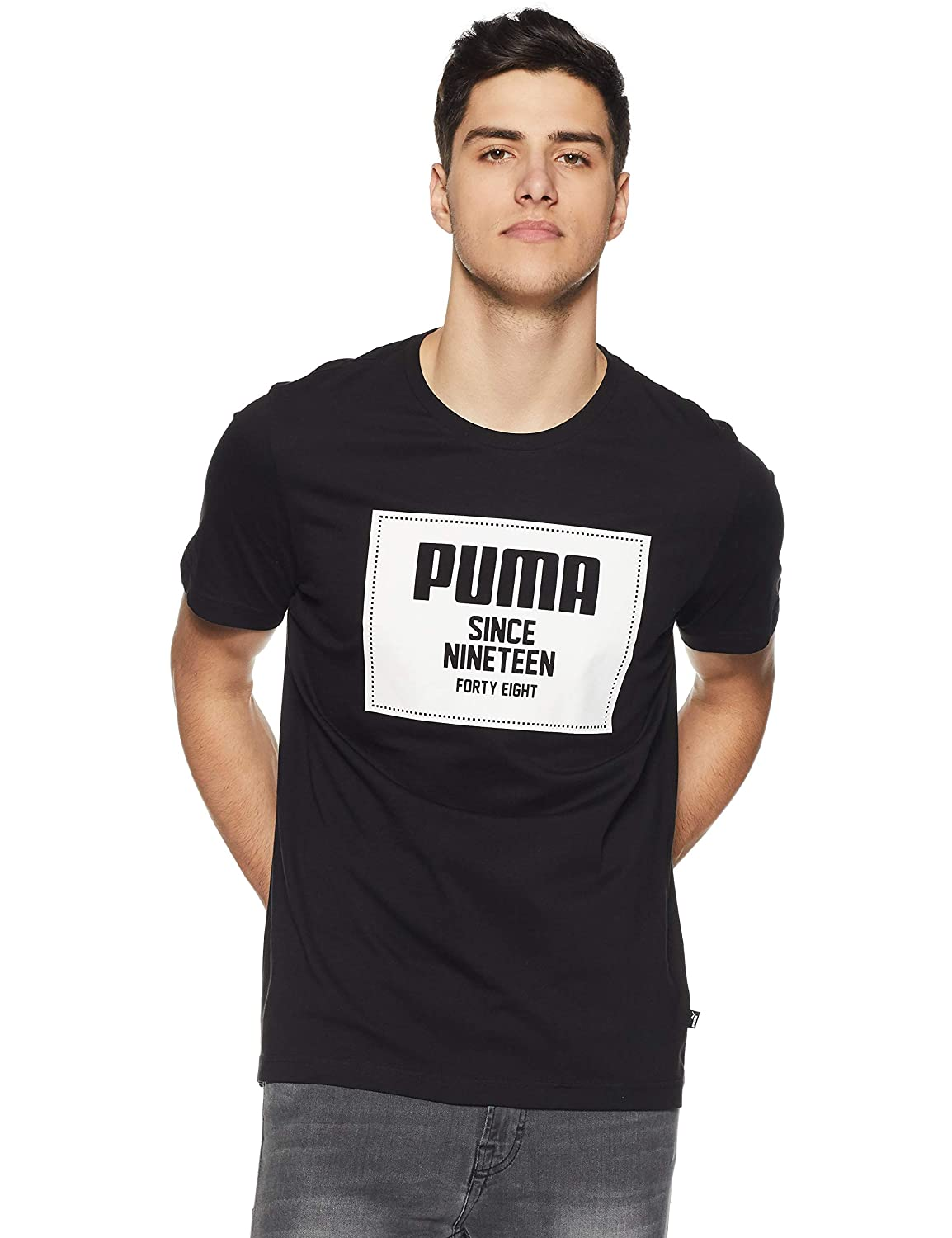 Puma Rebel Block Basic T-Shirt, Hombre, Cotton Black, XXL