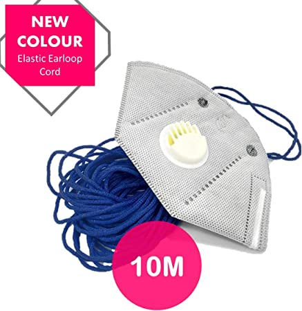 Blue Elastic Cord For Sewing For Making Trendy Face 10 Meters