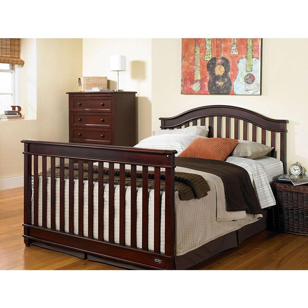 Europa Baby Palisades Bed Rail - Dark Walnut