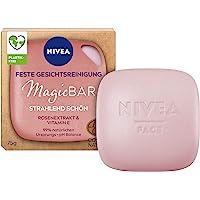 NIVEA MagicBar Vaste gezichtsreiniging, stralend mooi (75 g), gezichtsreiniger voor een stralende huid, gecertificeerde…