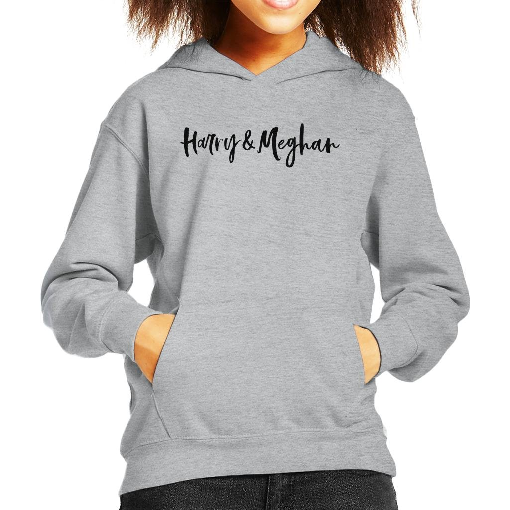 Coto7 Harry and Meghan Royal Wedding Handwriting Kid's Hooded Sweatshirt