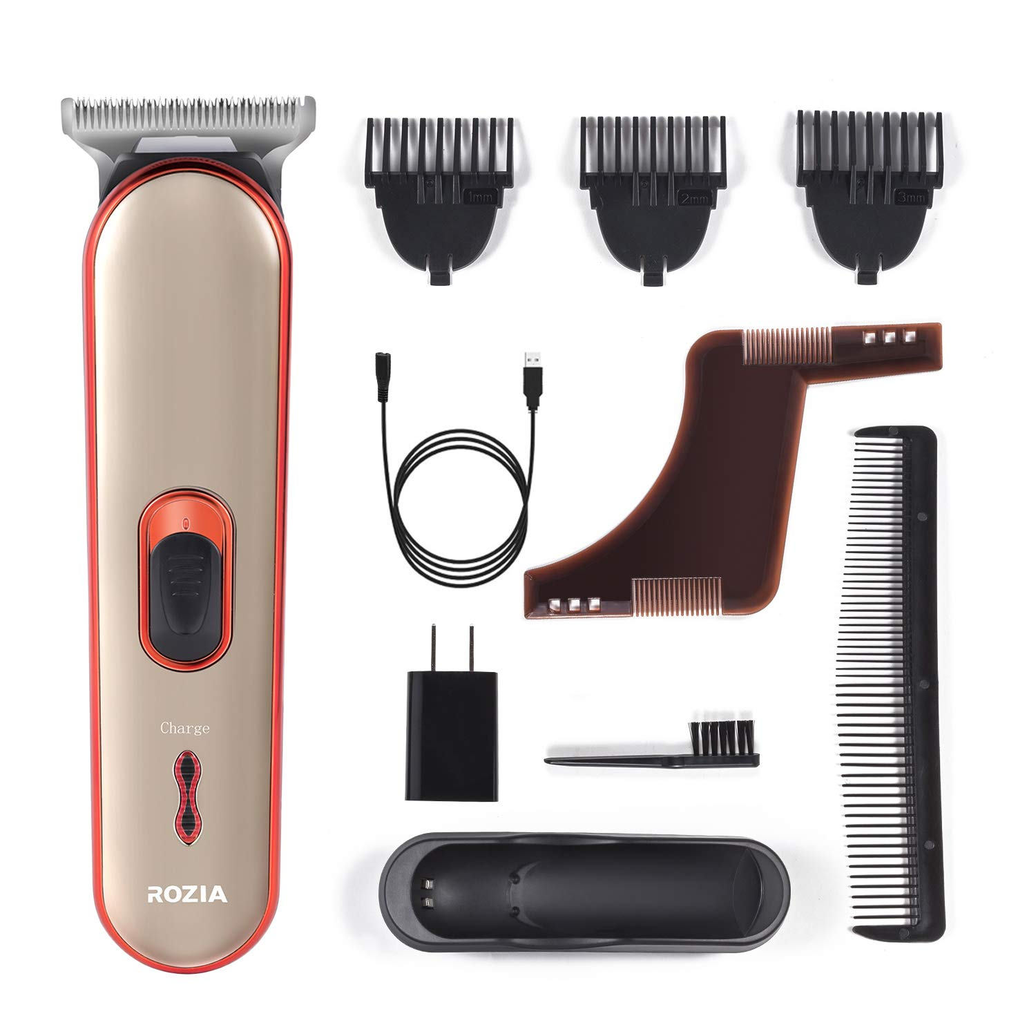 Beard Trimmer Hair Clippers Electric Razor For Men Mustache & Beard Groomer hair trimmer cordless clippers Precision Dial Portable USB charging cable