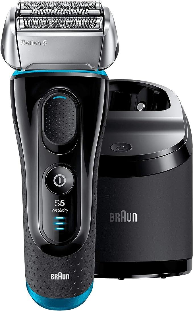 Braun Series 5-5190cc - Afeitadora eléctrica, color negro y azul ...