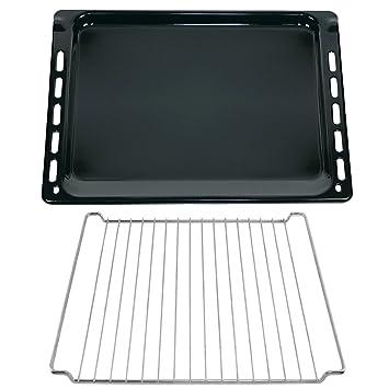 Spares2go tamaño grande esmaltada bandeja Base + cromo estante accesorio de insertar para IKEA horno cocina