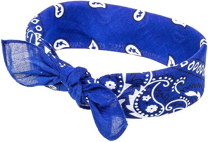Bandana Blue Banana Skull /& Rose