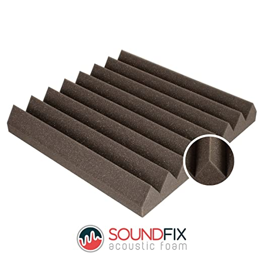 Losetas de espuma acústica, tratamiento de acústica de estudio de grabación profesional (24 unidades): Amazon.es: Instrumentos musicales