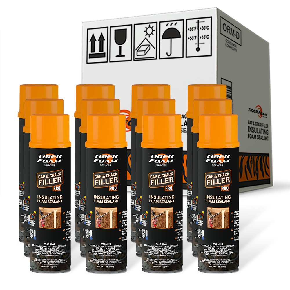 Tiger Foam Gap & Crack Pro 24oz Insulating Foam Sealant - Case of 12 by Tiger Foam