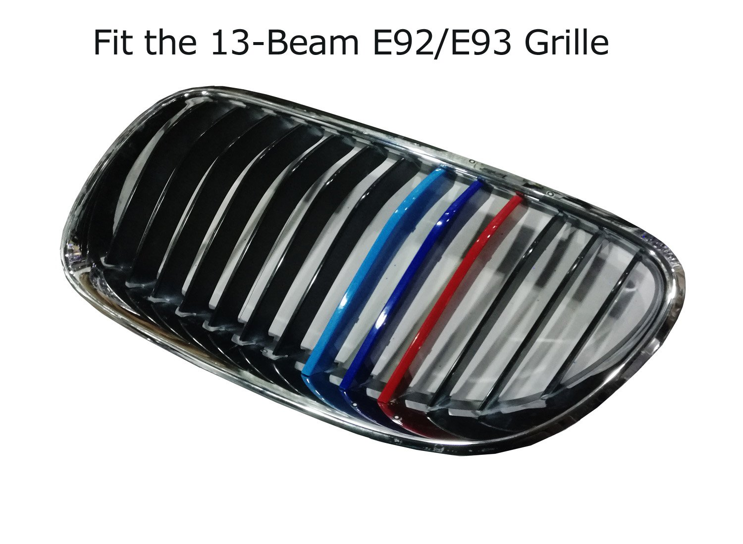 2008-2012 E71 X6 Center Kidney Grill iJDMTOY Exact Fit //////M-Colored Grille Insert Trims For 2007-2013 BMW E70 X5