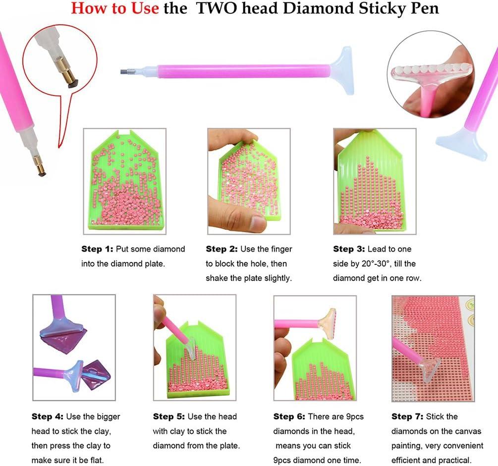 5D-Strassstein-Gem/älde sunset Mosaik-Set mit komplettem Zubeh/ör zum Selbergestalten Bastelset mit Kunstharzsteinchen 25x30cm pefekte Geschenke zur Dekoration