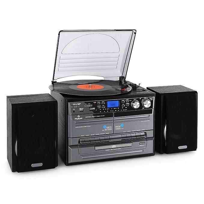 87 opinioni per auna MG-TC Impianto Stereo HiFi multifunzione (radio FM, lettore CD, giradischi,