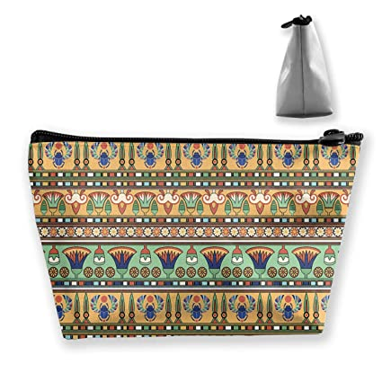 5e0d5c3b9f41 Amazon.com: BIKAM Ethnic Motifs Pattern Makeup Cosmetic Tote Bag ...