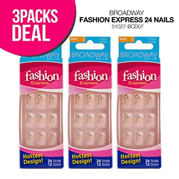 Amazon.com : Broadway Fashion Express Nail-Choose Your Style! (3 ...