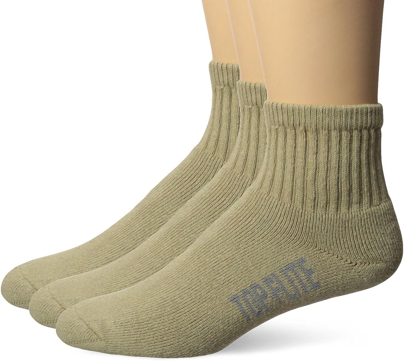 Top Flite Men's Sport Full Cushion Quarter Socks 3 Pair Pack