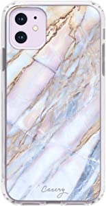 Casery iPhone XR Case, Shatter Marble (White Stone) - Military Grade Protection - Drop Tested - Protective Slim Clear Case for Apple iPhone XR