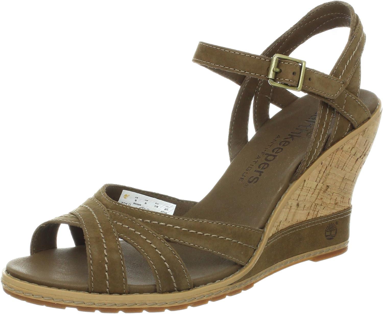 atlántico Oferta beneficio  Timberland Women's Maeslin Backstrap Sandal, Brown, 10 M US: Amazon.co.uk:  Shoes & Bags
