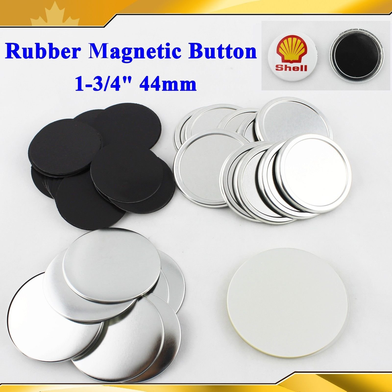 Rubber Magnetic 1-3/4'' 44mm 100sets Freezer Sticker Badge Button Maker Sale!!