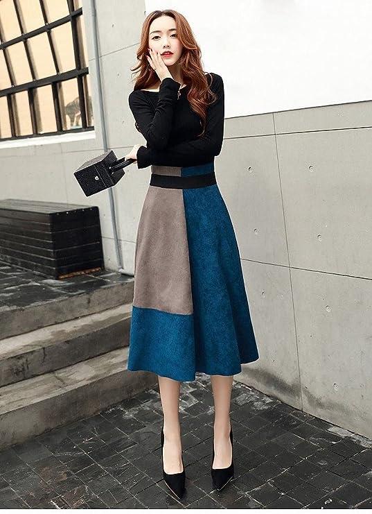 LQZ Otoño Original Vestido de Las Mujeres de Moda Traje Falda ...