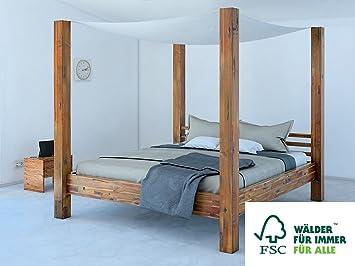 Sam Himmelbett 160x200 Cm Ella Aus Akazien Holz Massiv Inkl