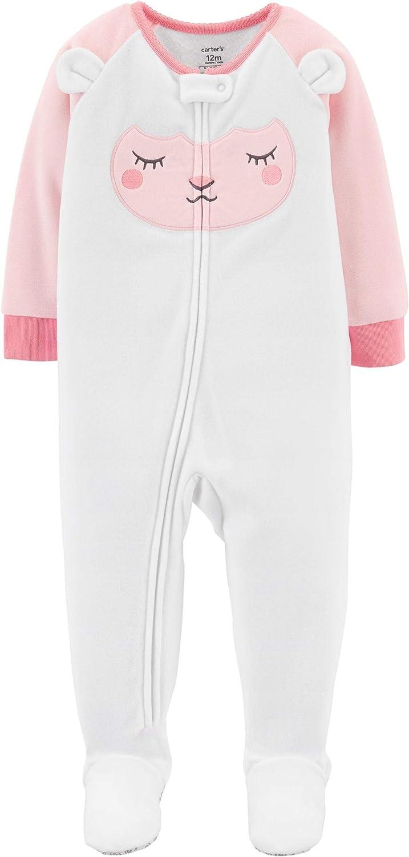 Lamb 5T Carters Baby Girls 12M-5T One Piece Fleece Pajamas