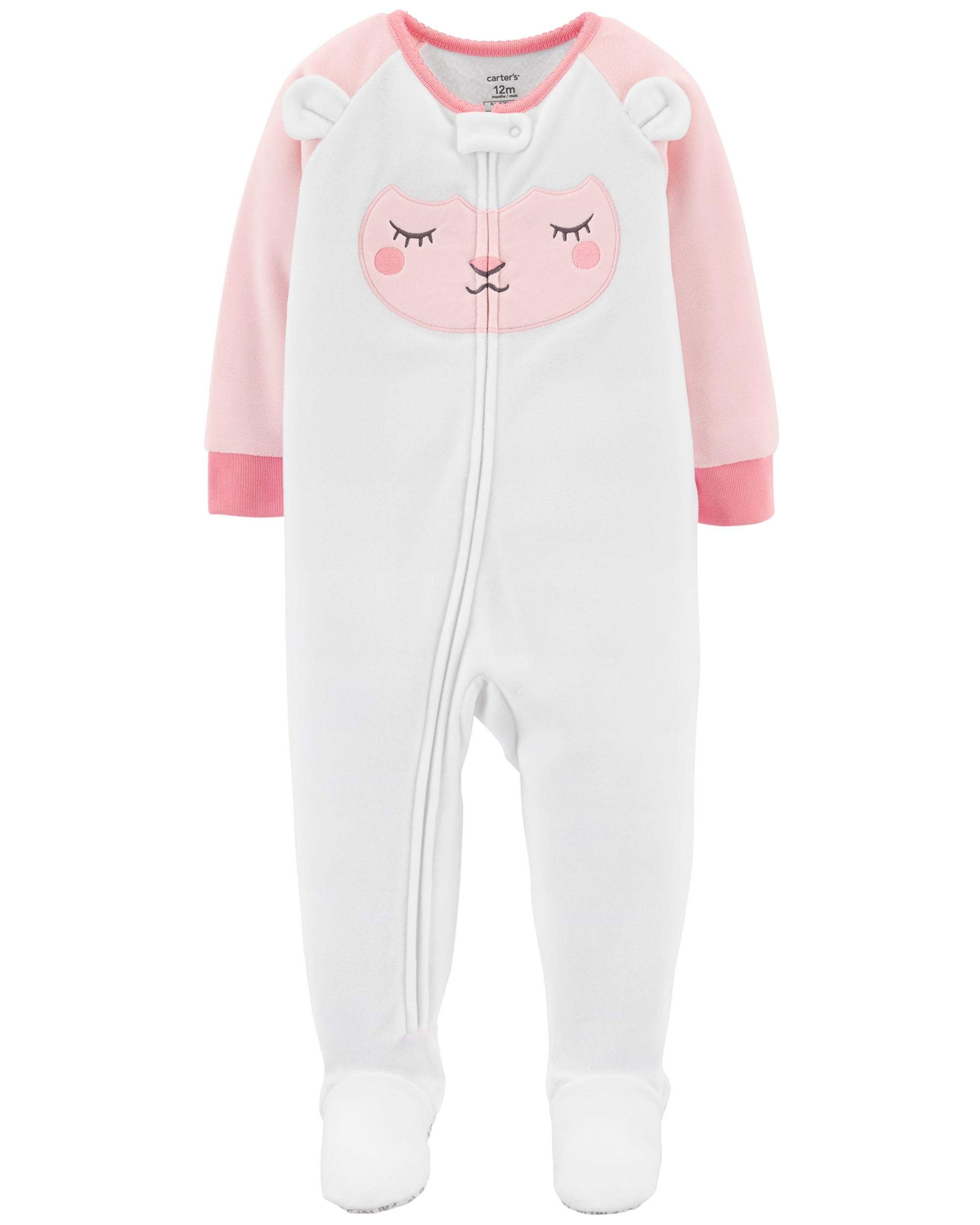 Galleon - Carter s Baby Girl s 12M-5T One Piece Fleece Pajamas 9e6ef3a09