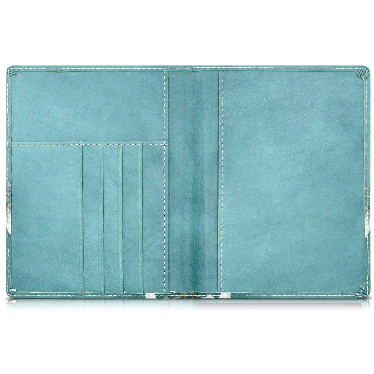 kwmobile Porte-Passeport avec Compartiments Cartes /Étui de Protection Simili Cuir Bleu fonc/é avec Emplacement Carte Bleue Portefeuille Passeport