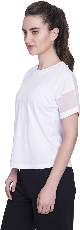 Satva Premium Organic Cotton Racerback Mesh Short Sleeve T-Shirt Round Neck for Yoga Workout Running Sports Training Cycling Jodo Tee