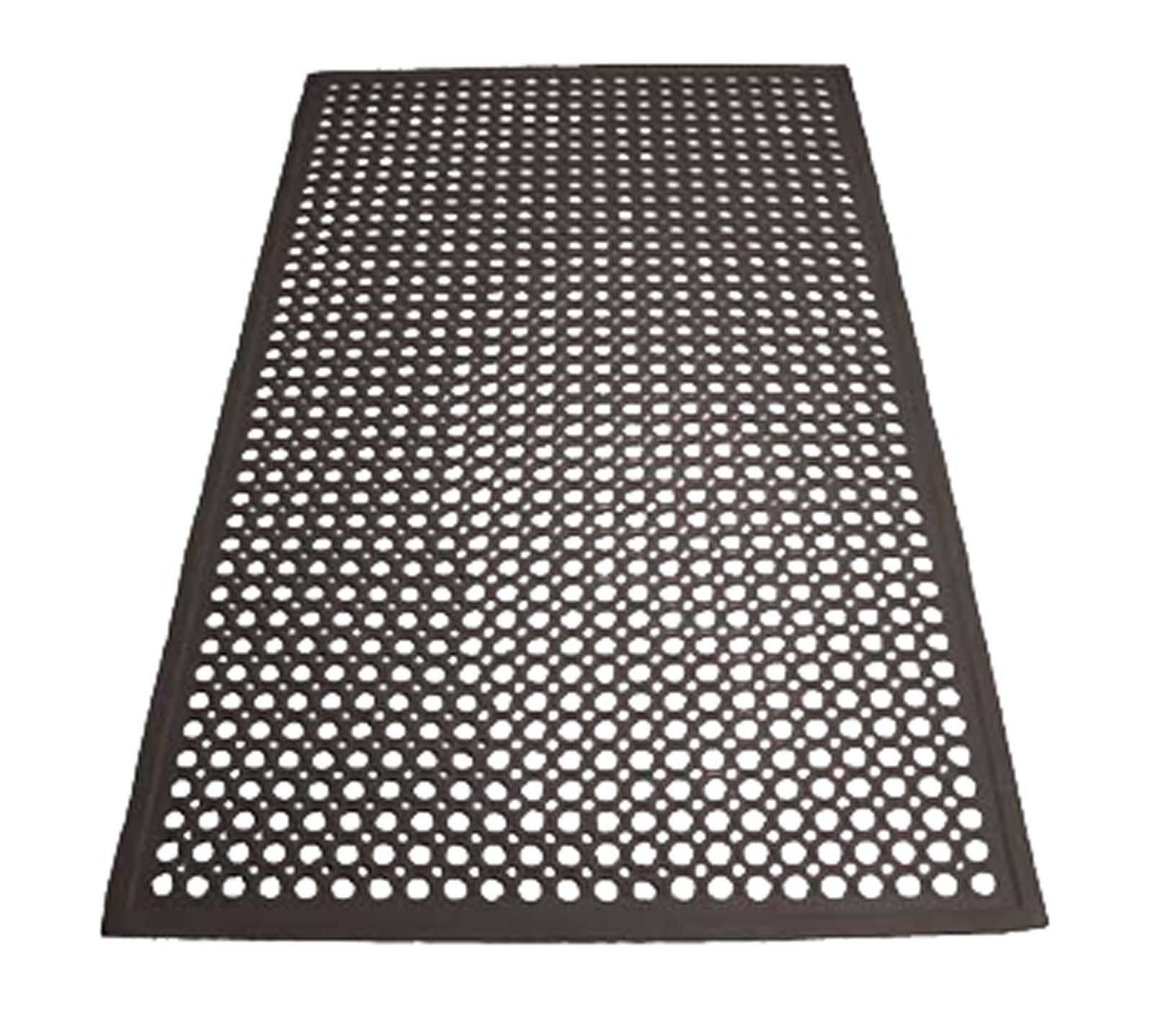1/2'' x 36'' x 60'' Black Rubber Drain mat
