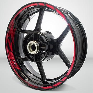 on feet at super cute buy Réfléchissant Rouge Jante de Moto décalcomanies Autocollant Accessoire pour  Kawasaki Z750
