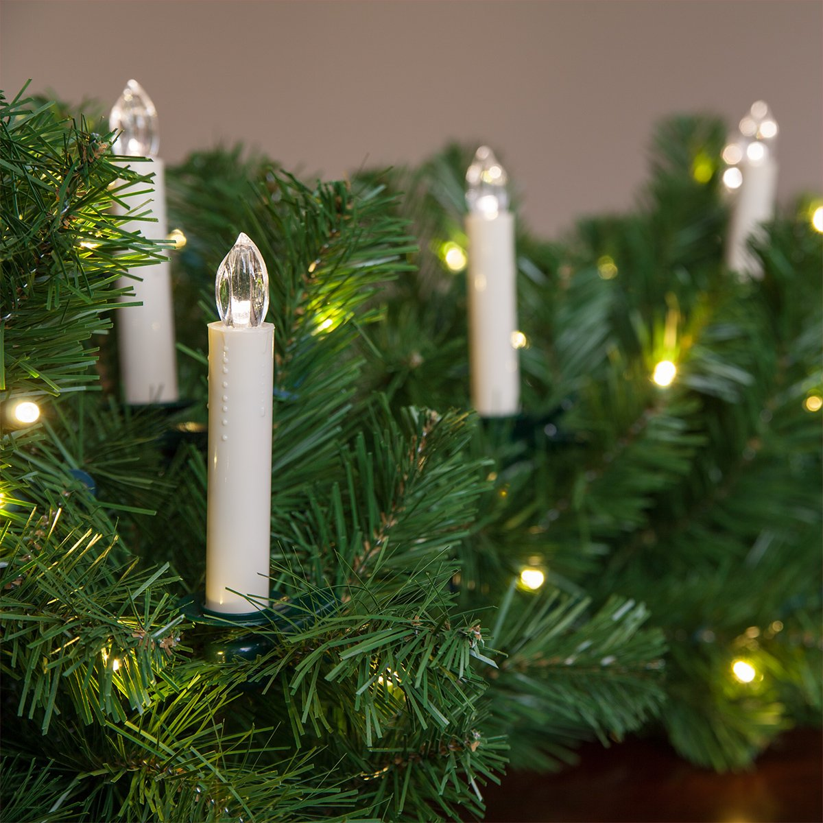 Amazon.com : Flameless Electric LED Candles - Clip-On Christmas Tree ...