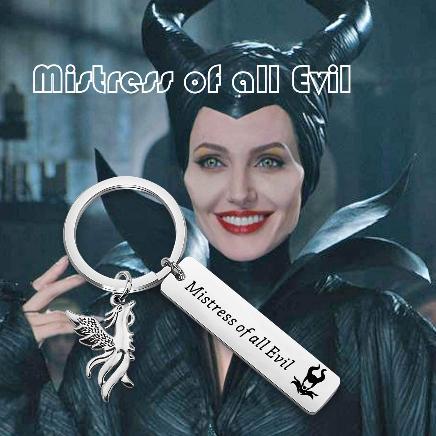 TIIMG Maleficent Inspired Gift Mistress of All Evil Sleeping Princess Fairytale Keychain Gift for Fans Best Friend