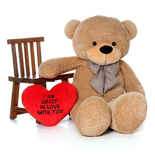 CLICK4DEAL Soft Teddy Bear Brown 6.5 Feet Tall 198 Cm