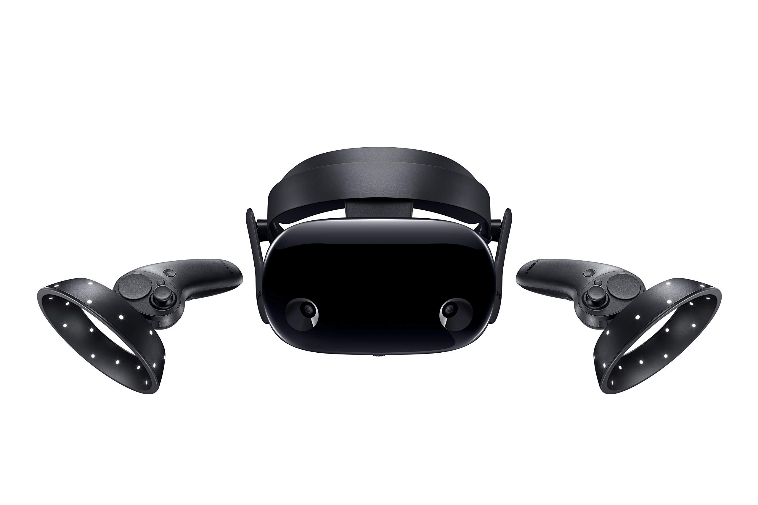 Samsung Electronics HMD Odyssey+ Windows Mixed Reality Headset with 2 Wireless Controllers 3.5in Black (XE800ZBA-HC1US) (Renewed)