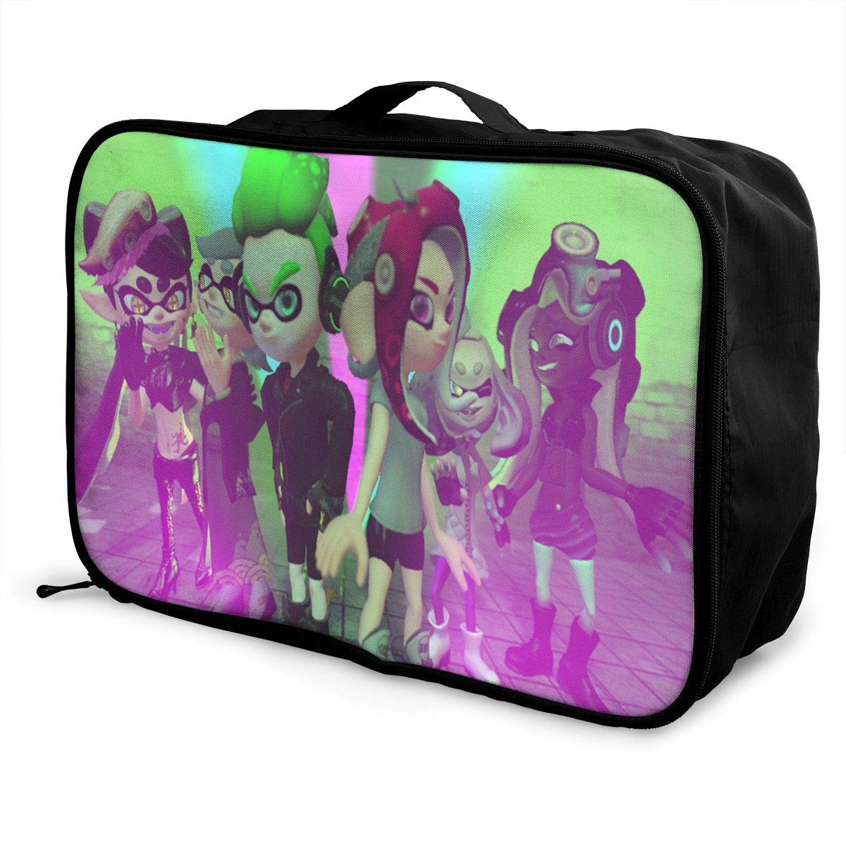 BOKAIKAI1306 Handsome S-Splatoon 2 Unisex Adult Fashion Lightweight Large Capacity Portable Large Travel Duffel Bag Men Womens Luggage Bag 3D Printed Customized Boarding Box